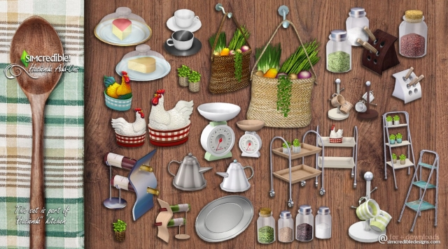 Hacienda Kitchen Clutter by Simcredible