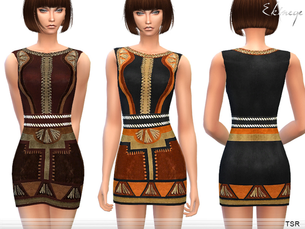 Patchwork Suede Dress by ekinege