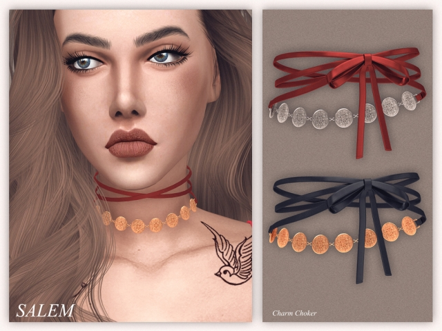 Charm Choker by salem2342