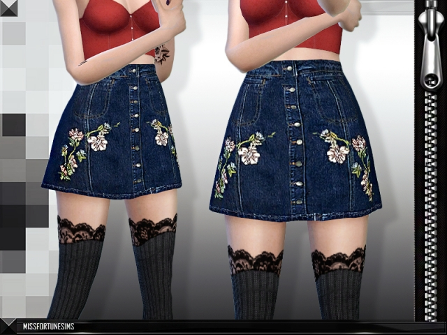 MFS Layla Skirt by MissFortune Sims