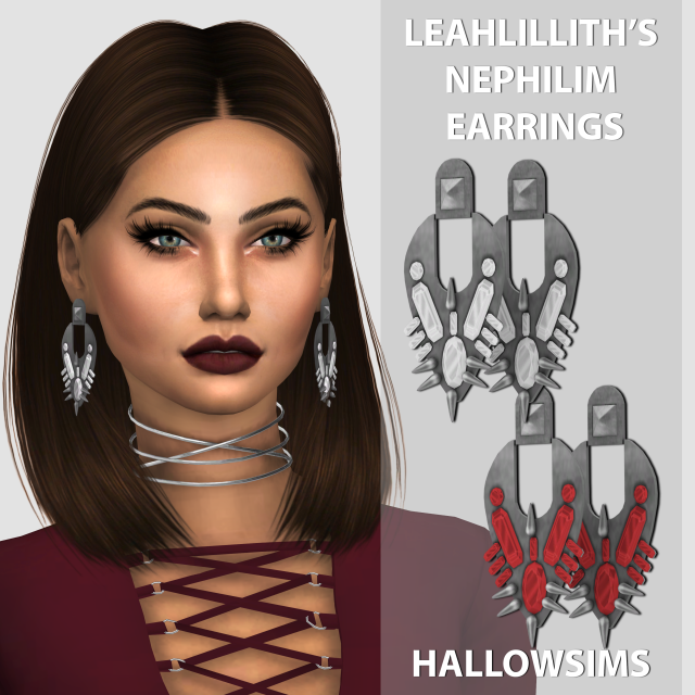 LeahLilliths Nephilim Earrings by Hallow Sims