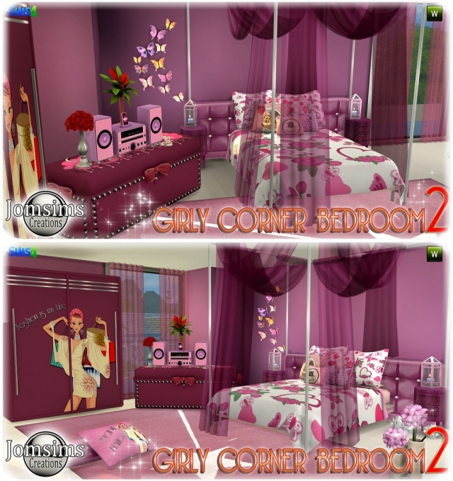 Gilry Corner Bedroom 2 by JomSims