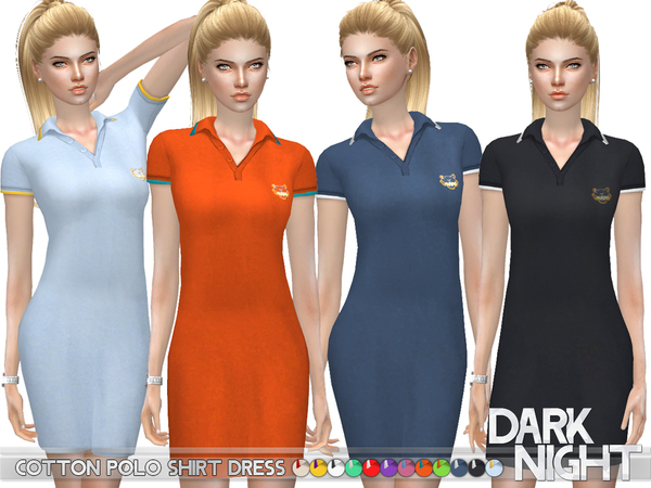 Cotton Polo Shirt Dress by DarkNighTt