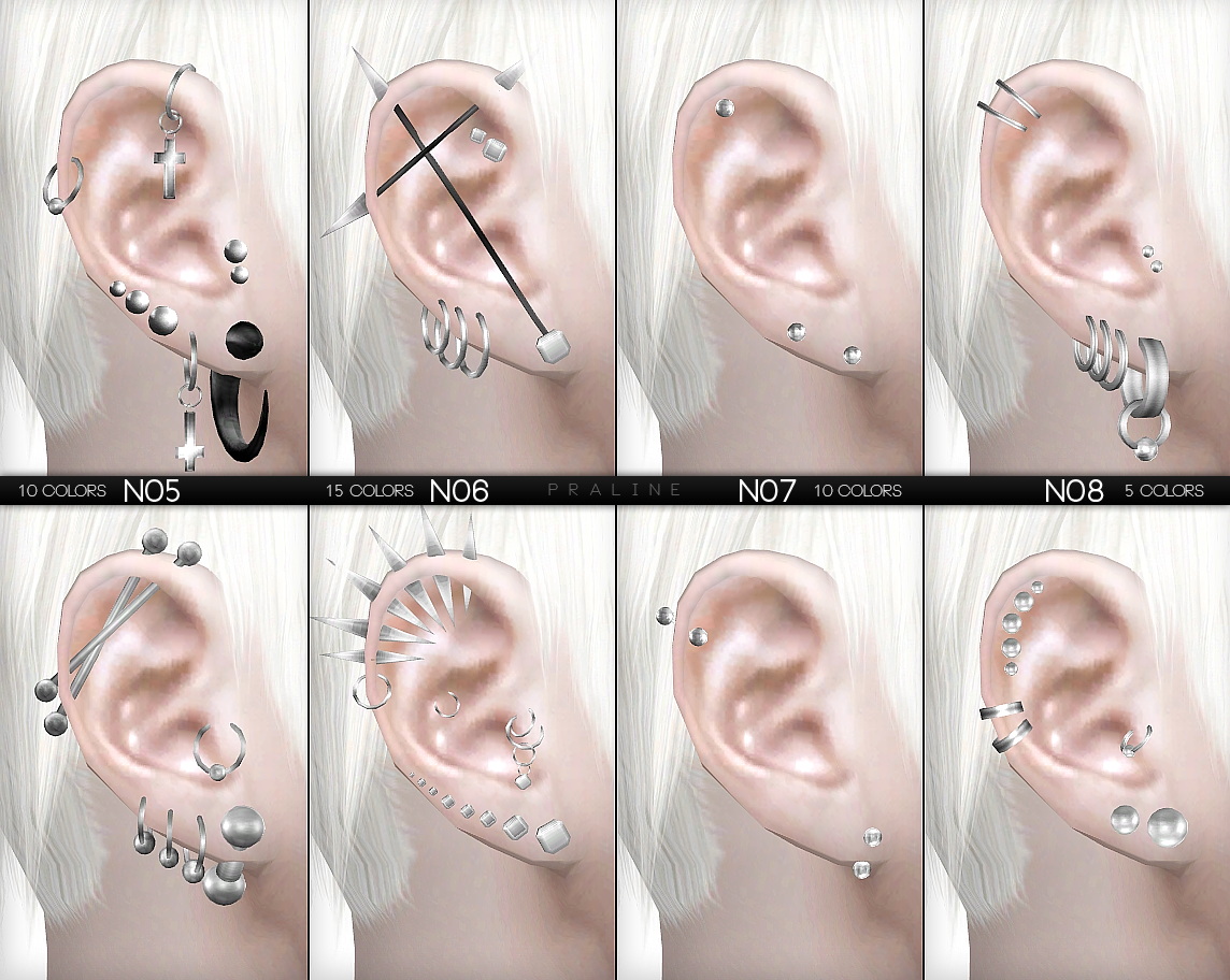 Piercings Set by PralineSims