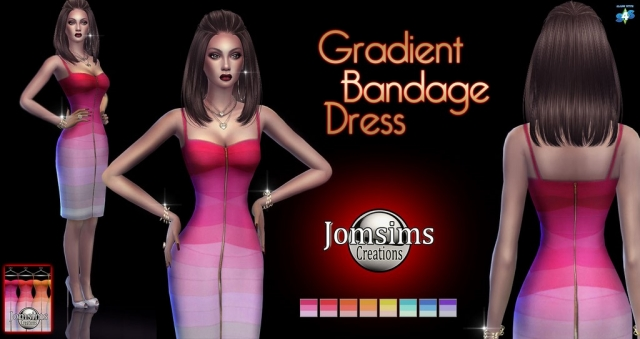 Gradient Bandage Dress by JomSims