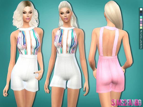 216 - Colorful romper by sims2fanbg