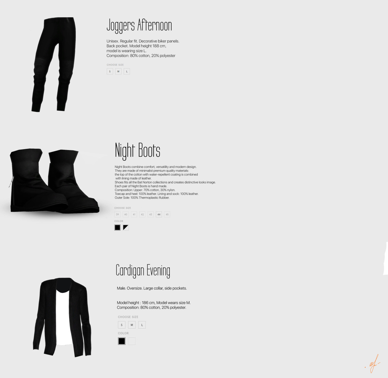 Clothing and Boots for Males by Azentase