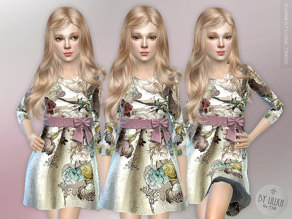 Summer Floral Dress by lillka