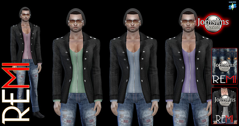 REMI Leather Jacket and Jeans for Males by JomSims