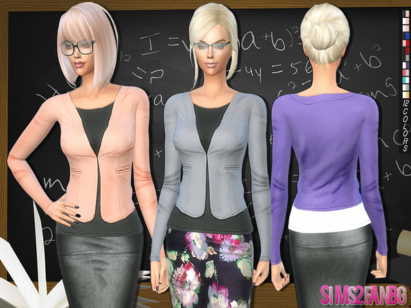 217 - Teacher jacket by sims2fanbg