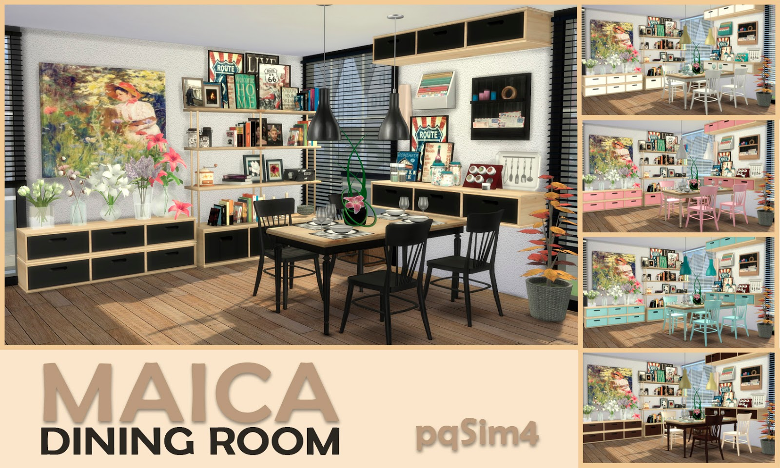 Maica Dining Room by pqSim4