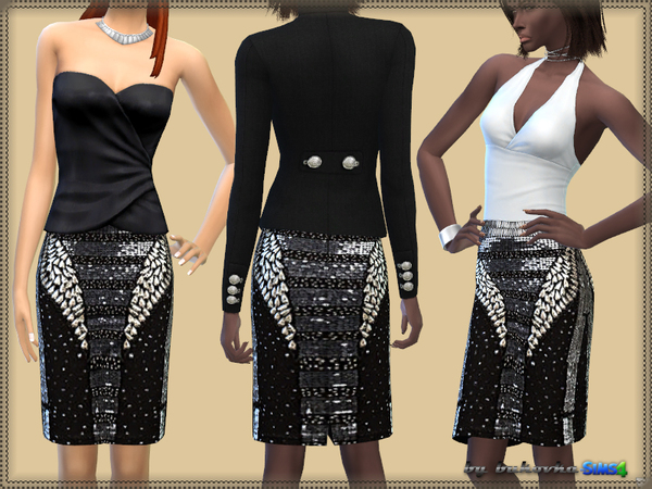 Skirt & Rhinestones by bukovka