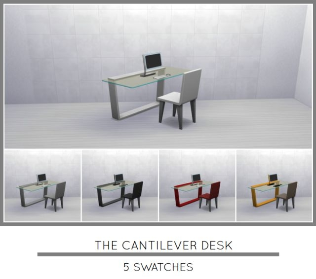 The Cantilevered Glass Desk by MrMonty96