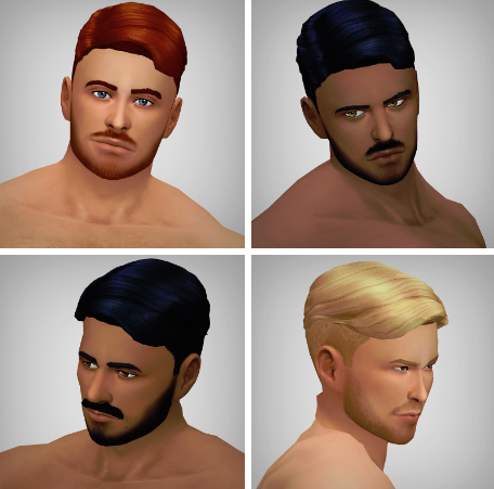Clandestine Hair for Males by XLDSims