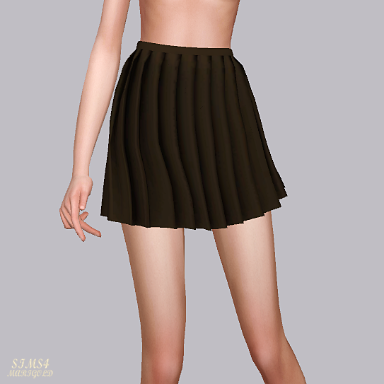 Thin Pleats Mini Skirt by Marigold