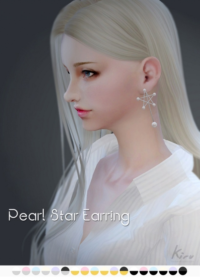 Серьги Pearl Star Earring by Kiru