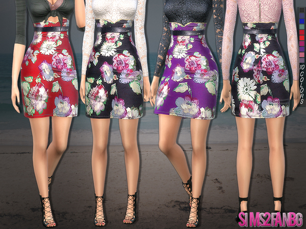 219 - Floral skirt by sims2fanbg