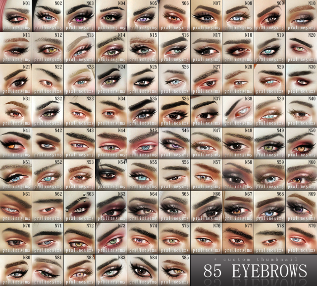 eyebrows urtrapack by Pralinesims