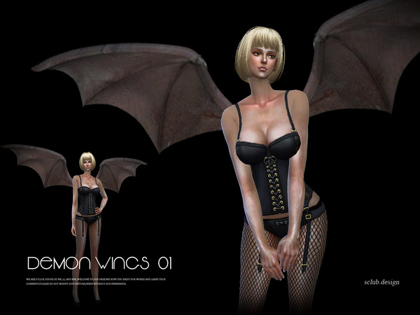 S-Club LL ts4 devil wings 01
