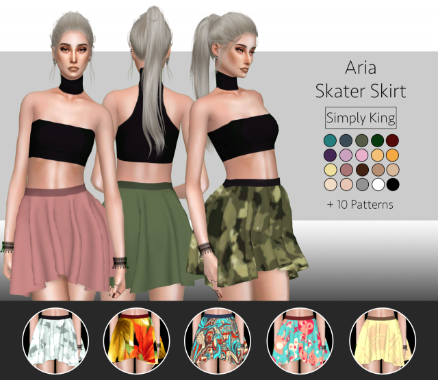 Aria Skater Skirt by Simply King