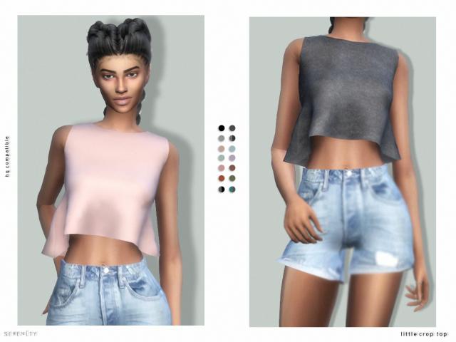 LITTLE CROP TOP by Serenity