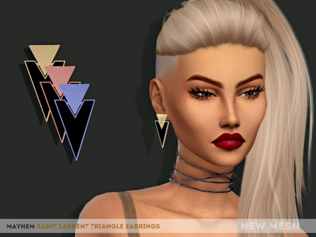 SL Triangle Earrings by Natalimayhem