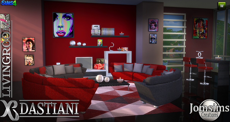 Dastiani Living Room Set by JomSims