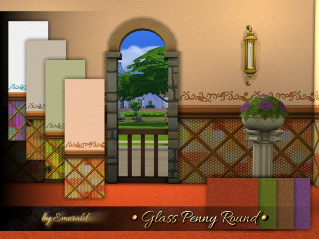 Glass Penny Round by emerald