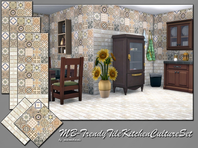 Trendy Tile Kitchen Culture Set by matomibotaki
