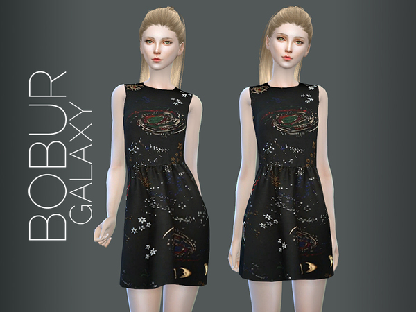 galaxy dress by Bobur