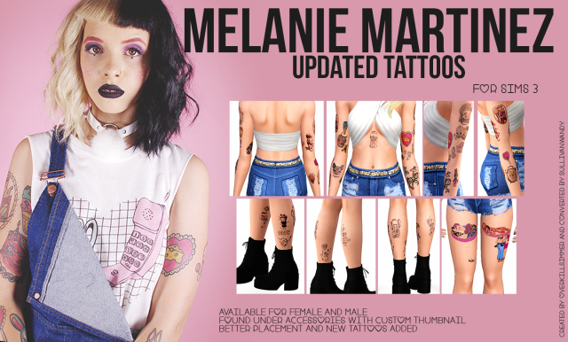 Melanie Martinez Updated Tattoos by sullivanwandy