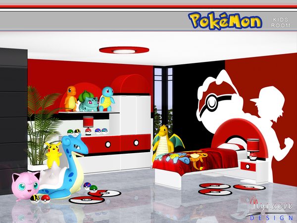 Pokemon Kids Room by NynaeveDesign