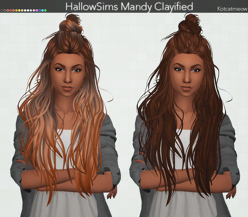 Mandy and KenDoll Hairs Clayified by KotCatMeow