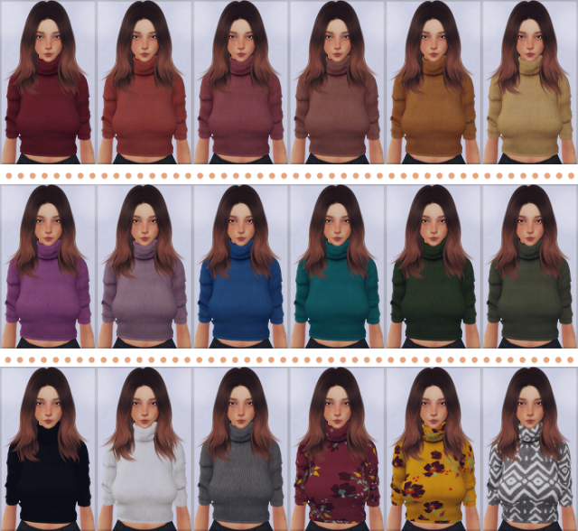 Mid Sleeve Turtleneck (by Chisami ) by EllieSimple