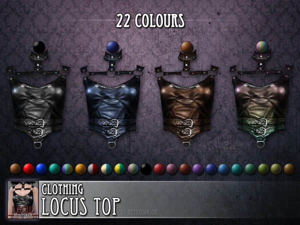 Locus top - female clothing - HQ and non-HQ version by RemusSirion