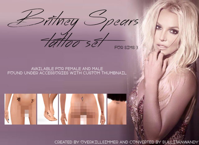 Britney Spears Tattoos by sullivanwandy