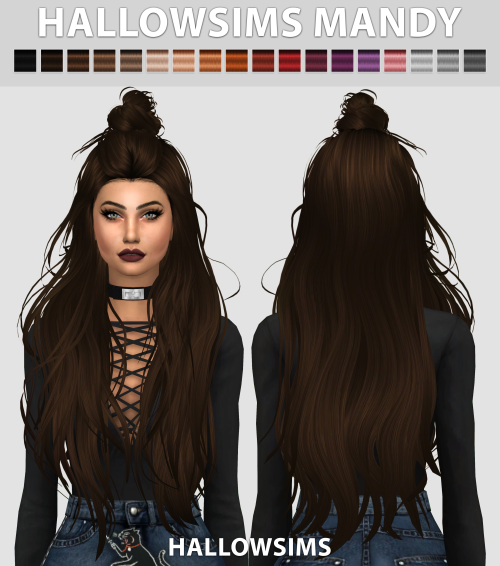 Mandy Hair by HallowSims