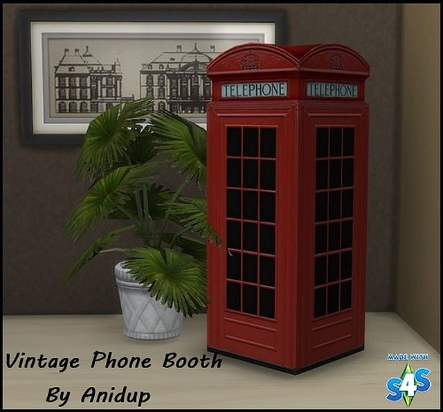 Vintage Phone Booth by Anidup