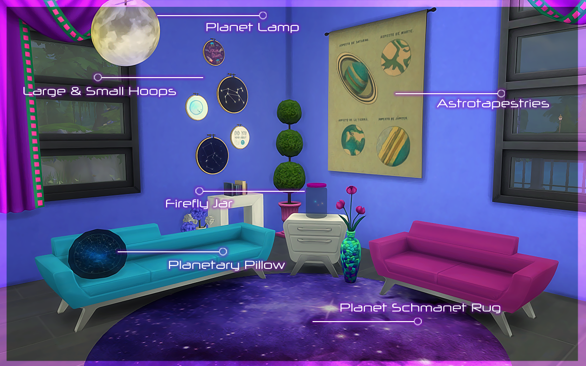 Stellar Stuff Pack - Hair, Clothing, Makeup, Objects and More by Plumbob Tea Society