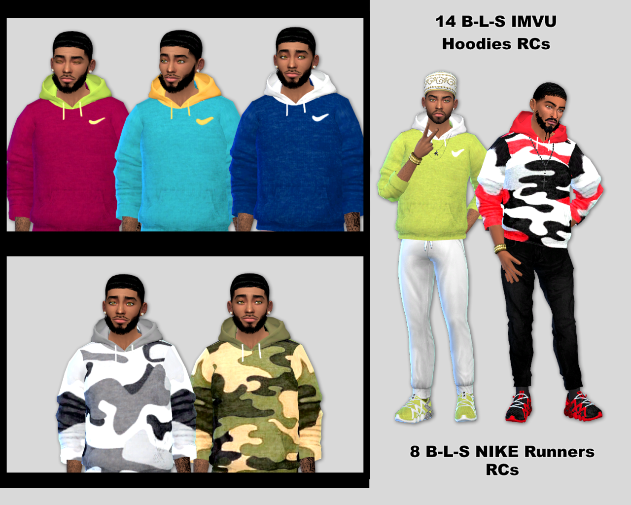 Hoodie and Nike Runners Recolors by BLewis