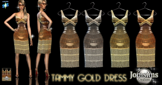 ammy gold dress by JomSims