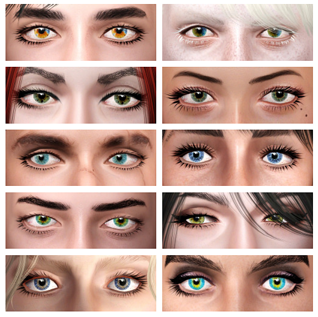 More eyecolors with central and sectoral heterochromia (contacts 170) by ulito4ka