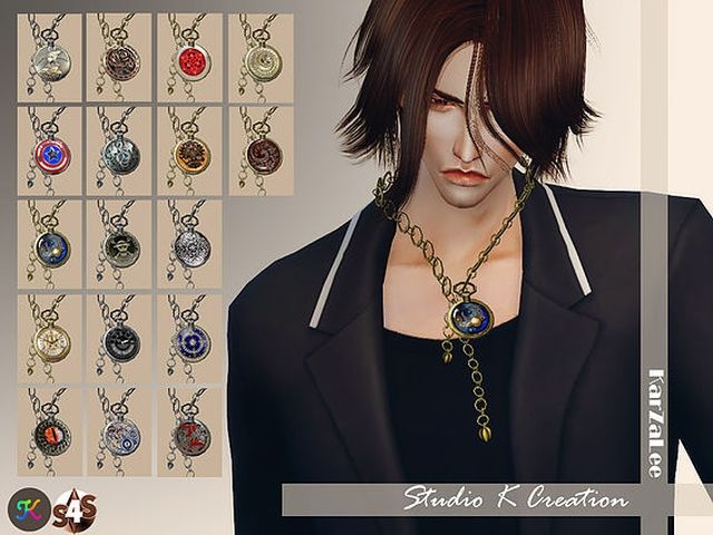 Pocket Watch necklace for male by Karzalee
