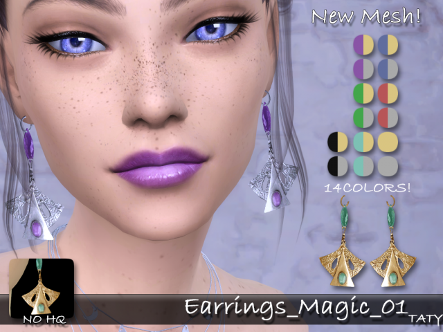 Earrings Magic 01 by tatygagg