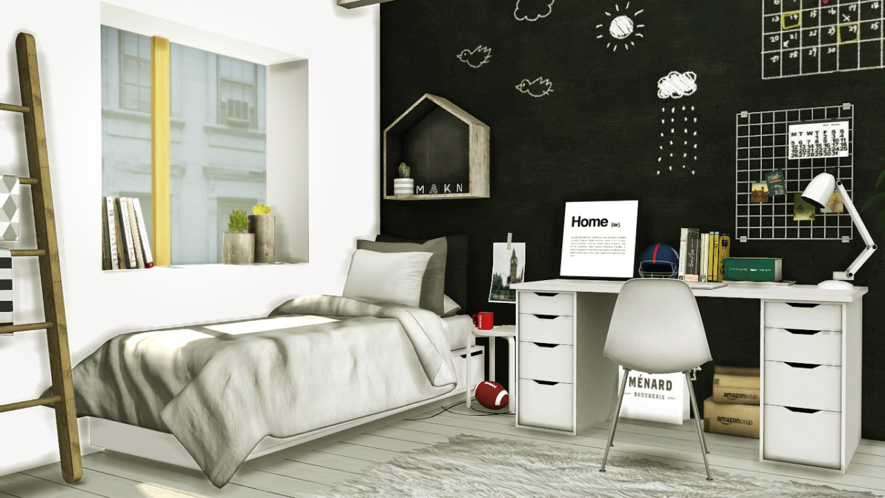 Scandinavian-Style Boys Room by MXIMS
