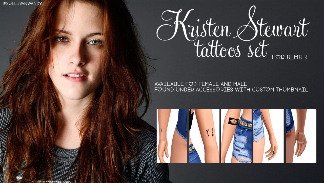 Kristen Stewart tattoos set от sullivanwandy