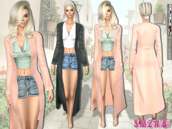 224 - Trench coat outfit by sims2fanbg