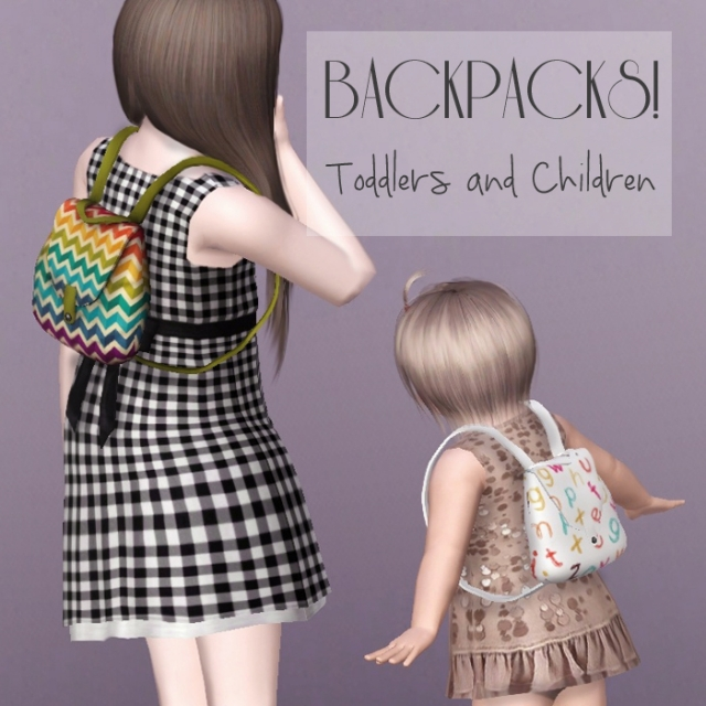 Backpacks Children and Toddlers by Descargassims