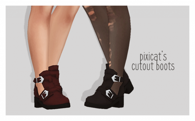 pixicats cutout boots by puresims