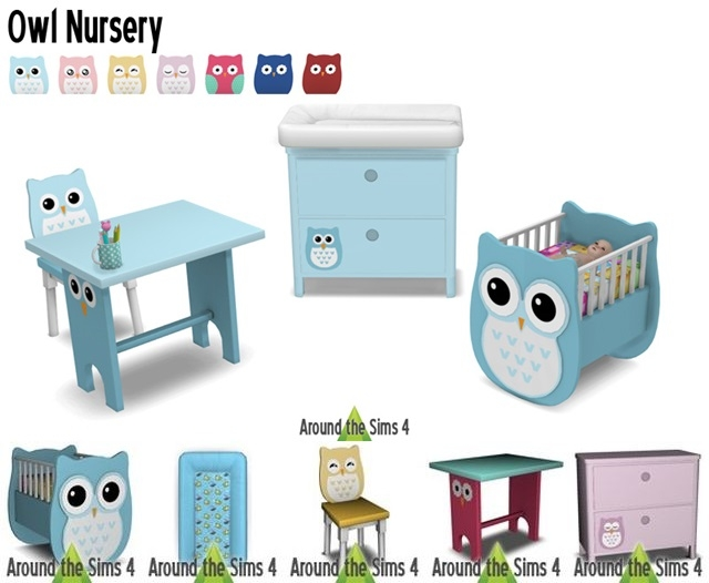 Owl Nursery Set by Sandy